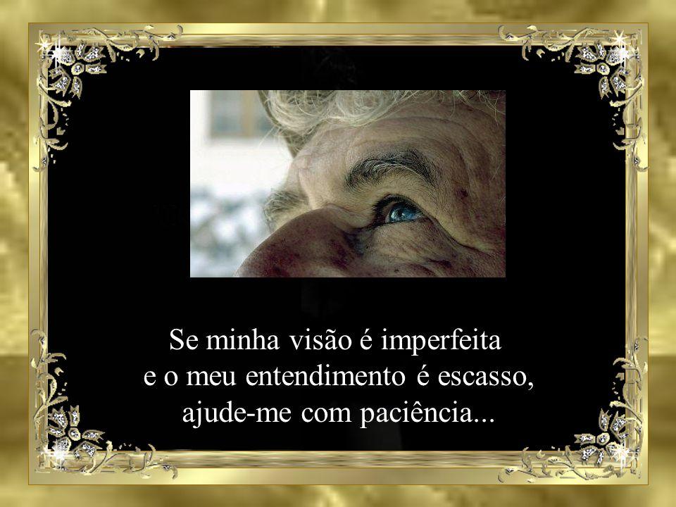 Se minha visão é imperfeita e o meu entendimento é escasso,
