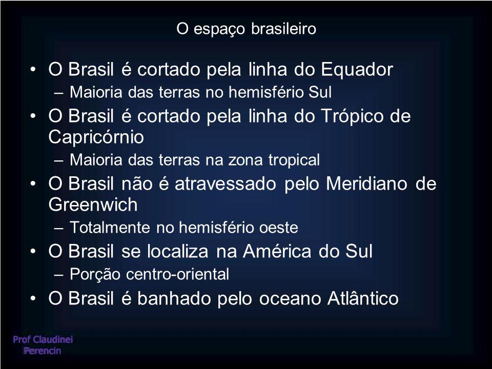 O Brasil é cortado pela linha do Equador