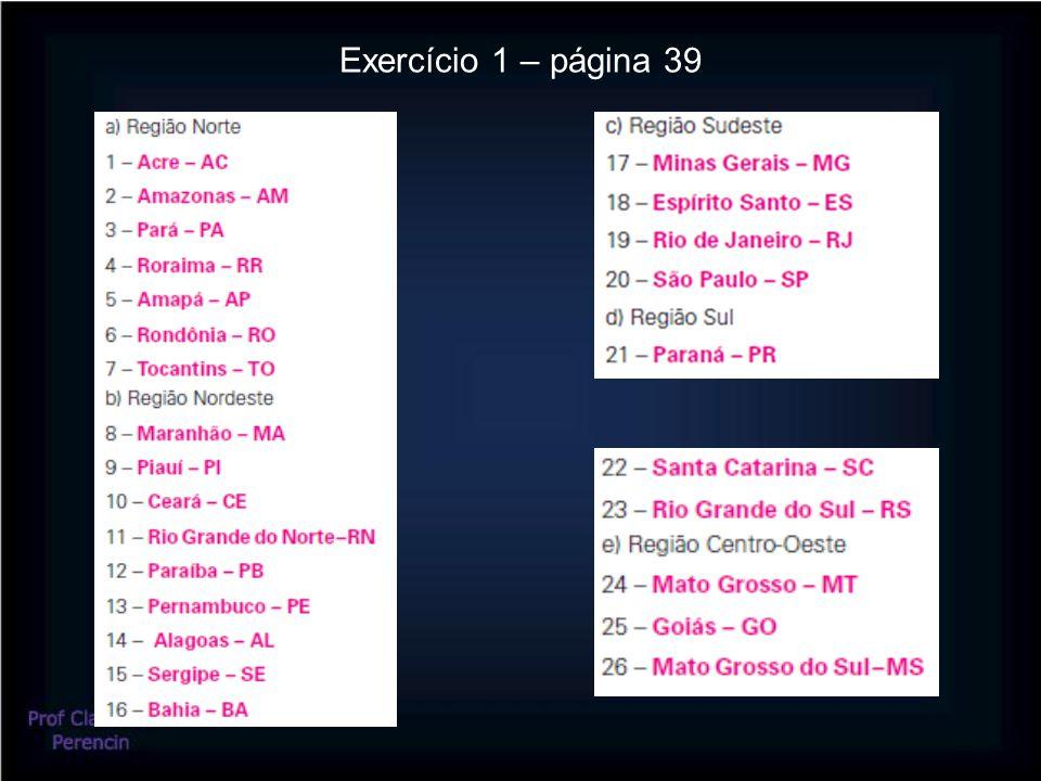 Exercício 1 – página 39