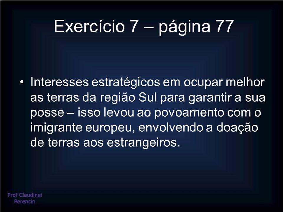 Exercício 7 – página 77