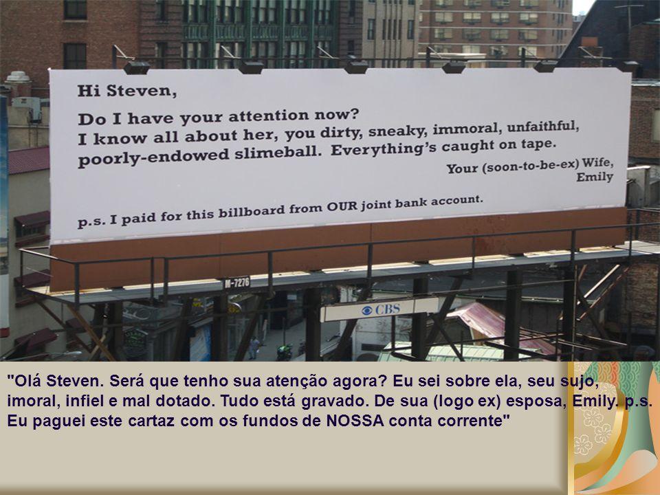 Olá Steven. Será que tenho sua atenção agora