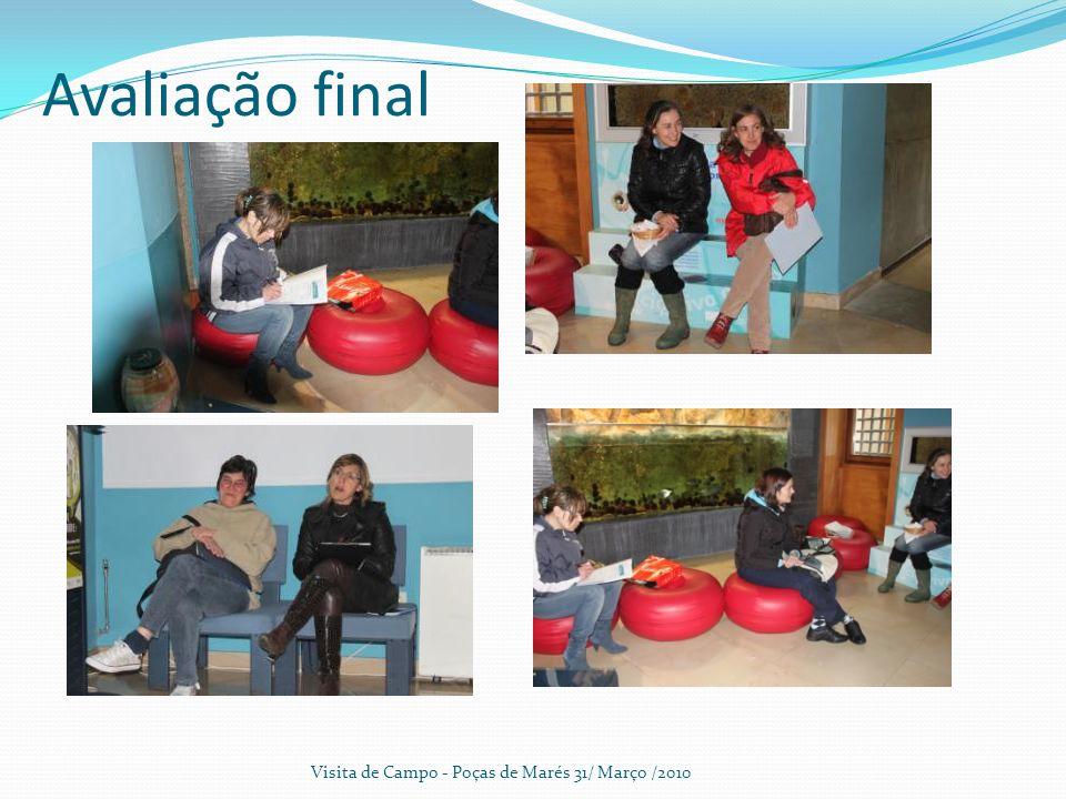 Avaliação final Visita de Campo - Poças de Marés 31/ Março /2010