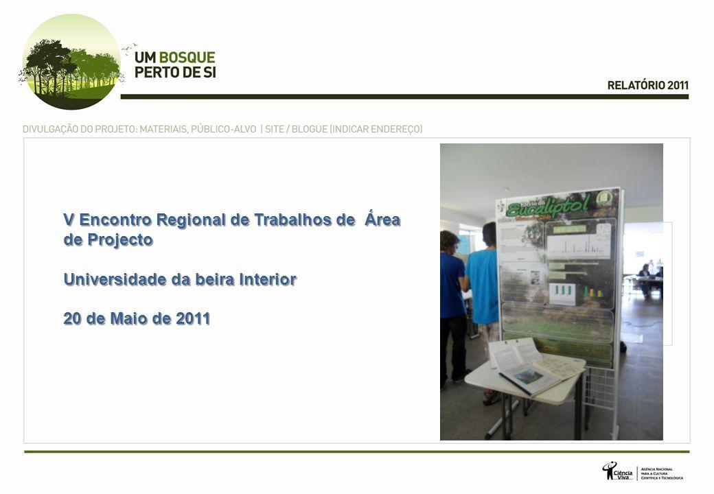 V Encontro Regional de Trabalhos de Área de Projecto