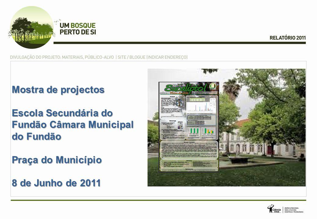 Mostra de projectos Escola Secundária do Fundão Câmara Municipal do Fundão.