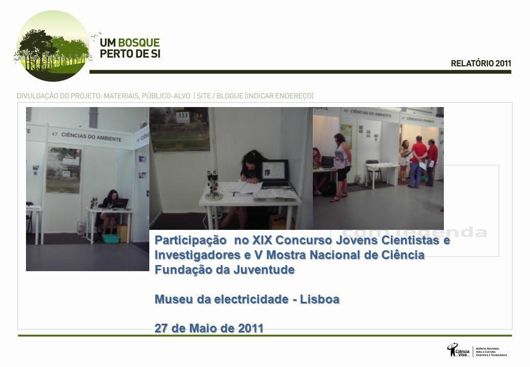 Participação no XIX Concurso Jovens Cientistas e Investigadores e V Mostra Nacional de Ciência