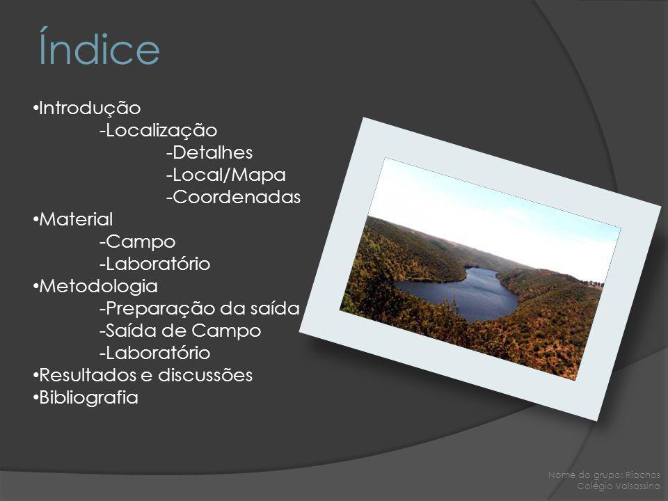 Índice Introdução -Localização -Detalhes -Local/Mapa -Coordenadas
