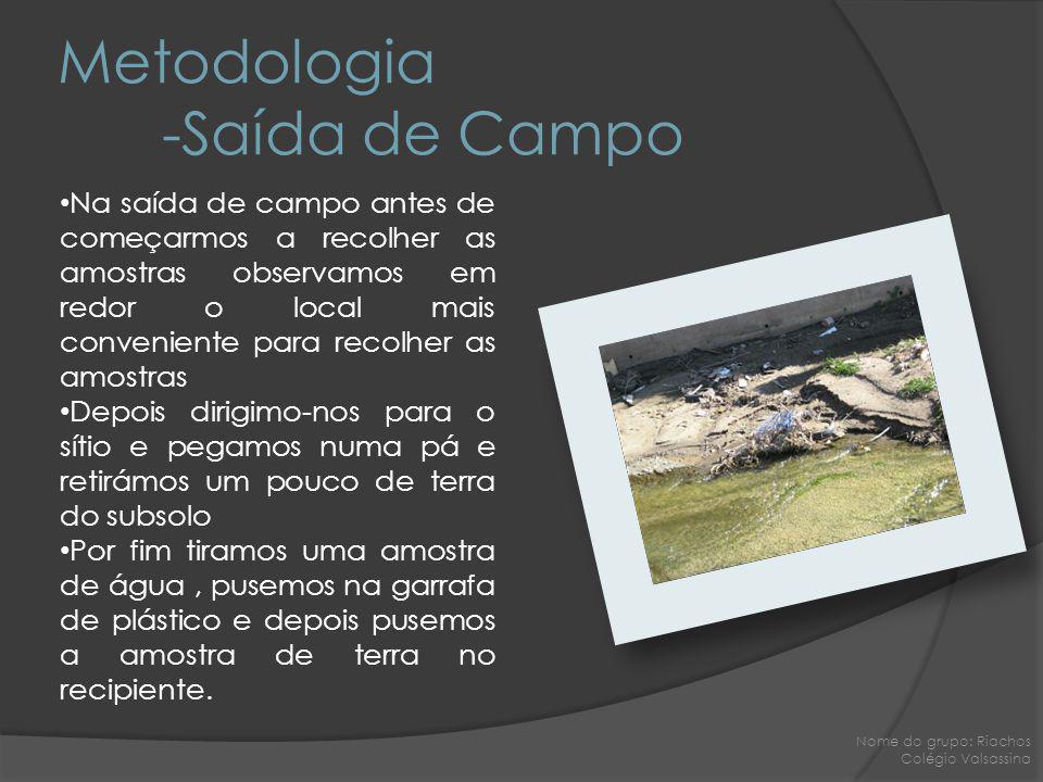 Metodologia -Saída de Campo