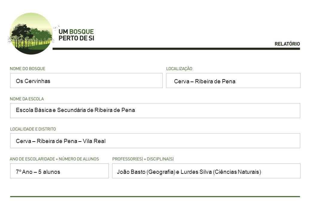 Os Cervinhas Cerva – Ribeira de Pena. Escola Básica e Secundária de Ribeira de Pena. Cerva – Ribeira de Pena – Vila Real.