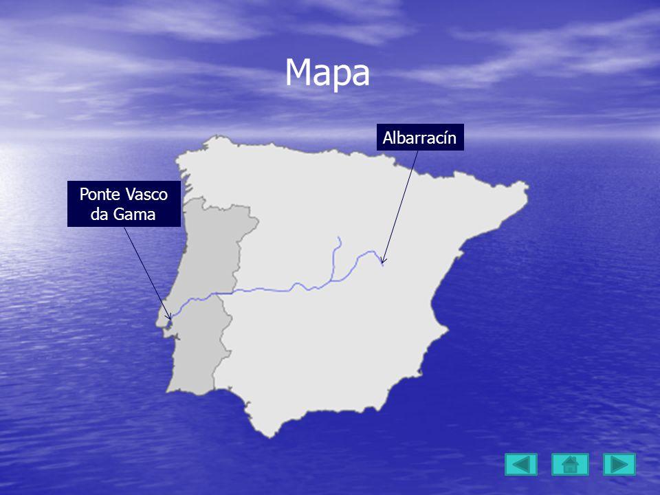 Mapa Albarracín Ponte Vasco da Gama
