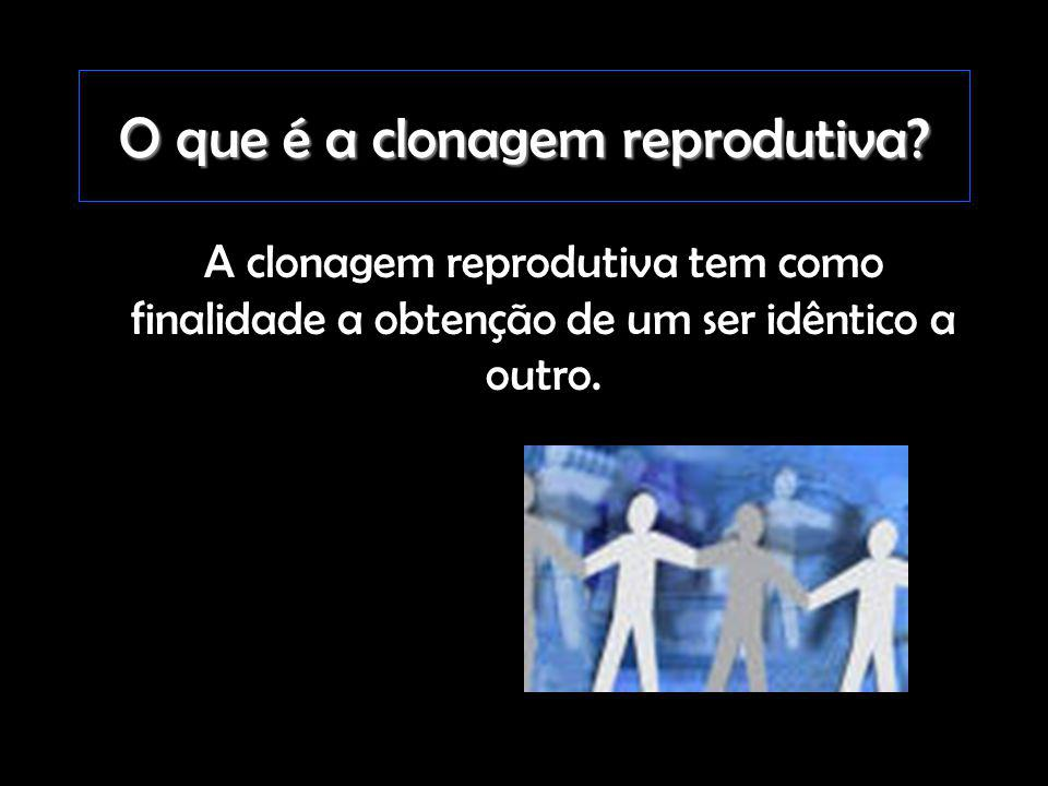 O que é a clonagem reprodutiva