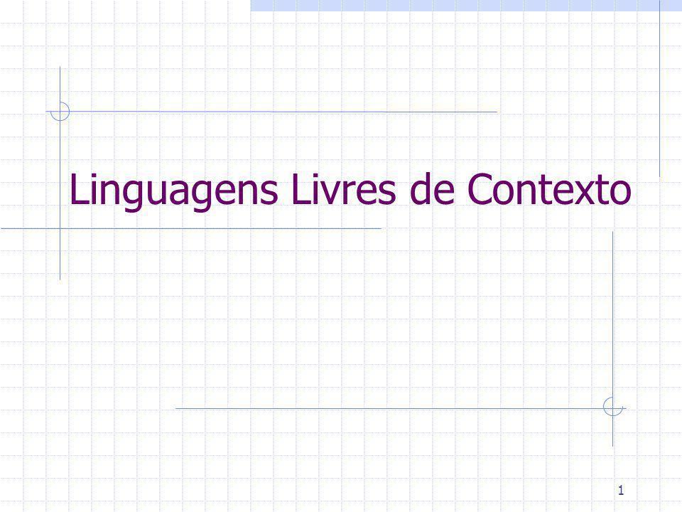Linguagens Livres de Contexto