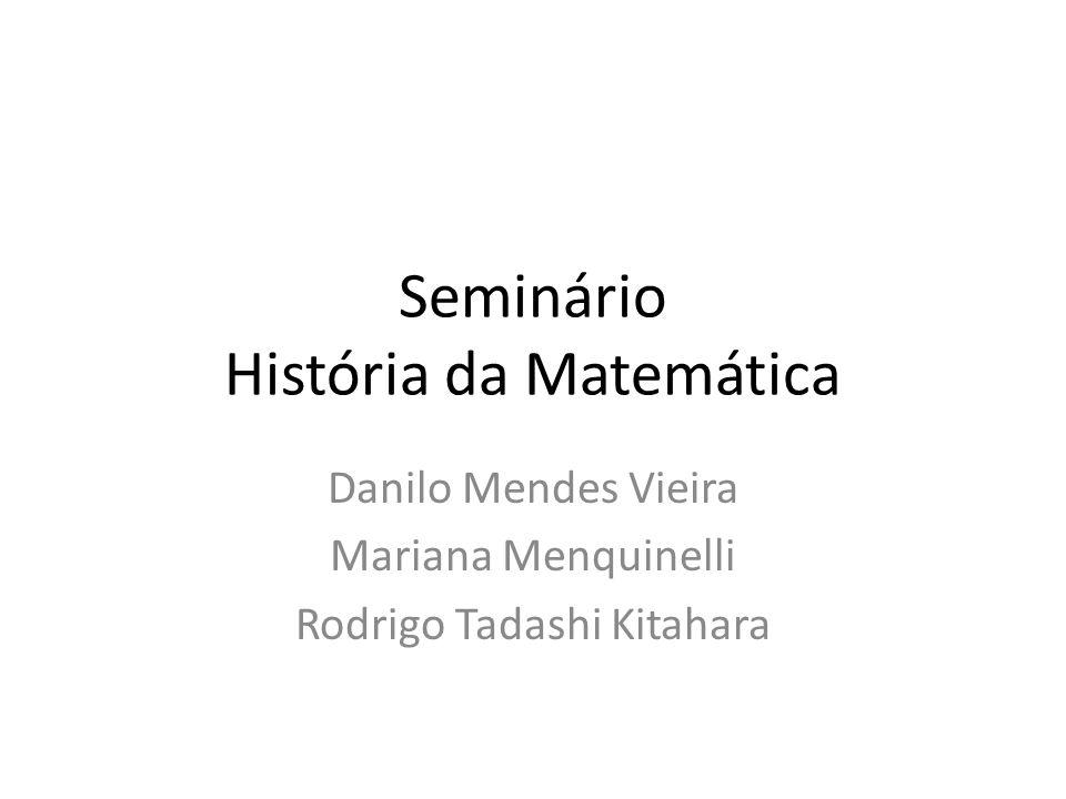 Seminário História da Matemática