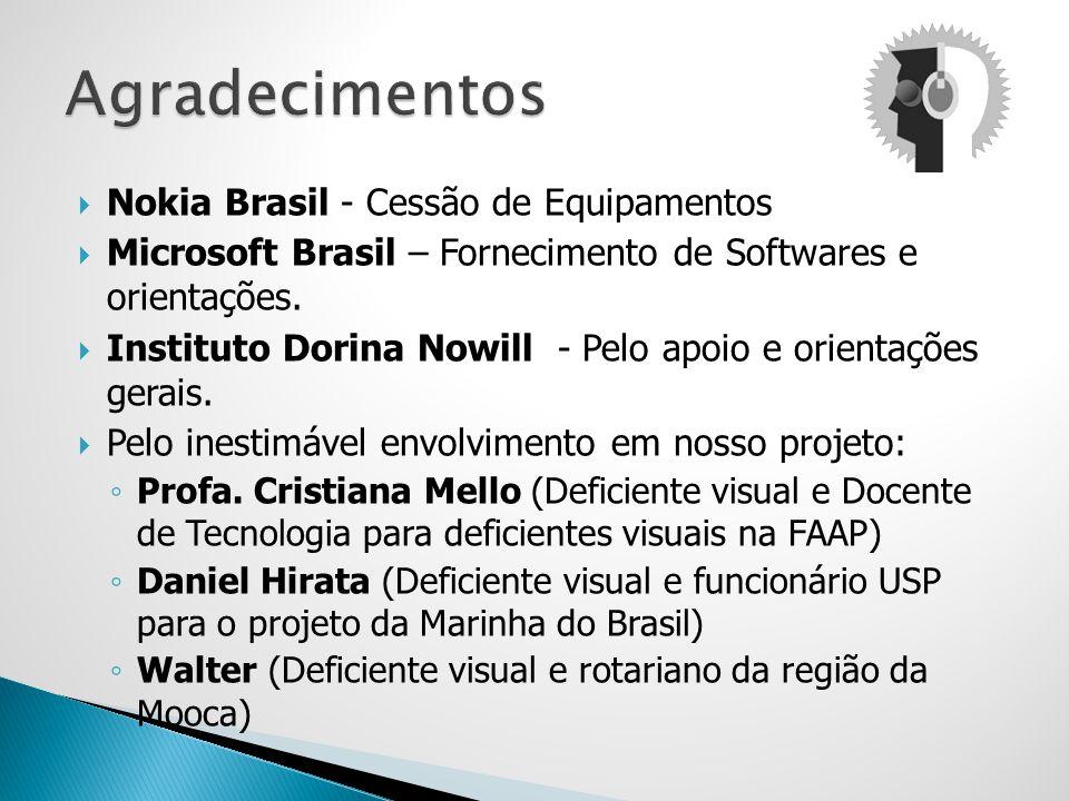 Agradecimentos Nokia Brasil - Cessão de Equipamentos