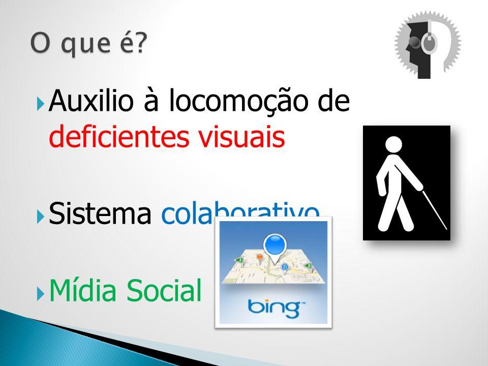 Auxilio à locomoção de deficientes visuais Sistema colaborativo