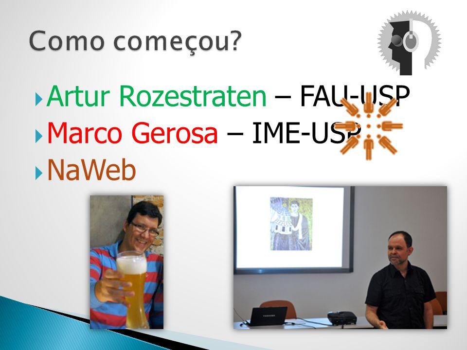 Artur Rozestraten – FAU-USP Marco Gerosa – IME-USP NaWeb