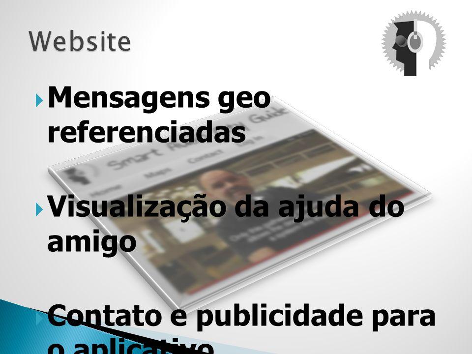 Mensagens geo referenciadas Visualização da ajuda do amigo