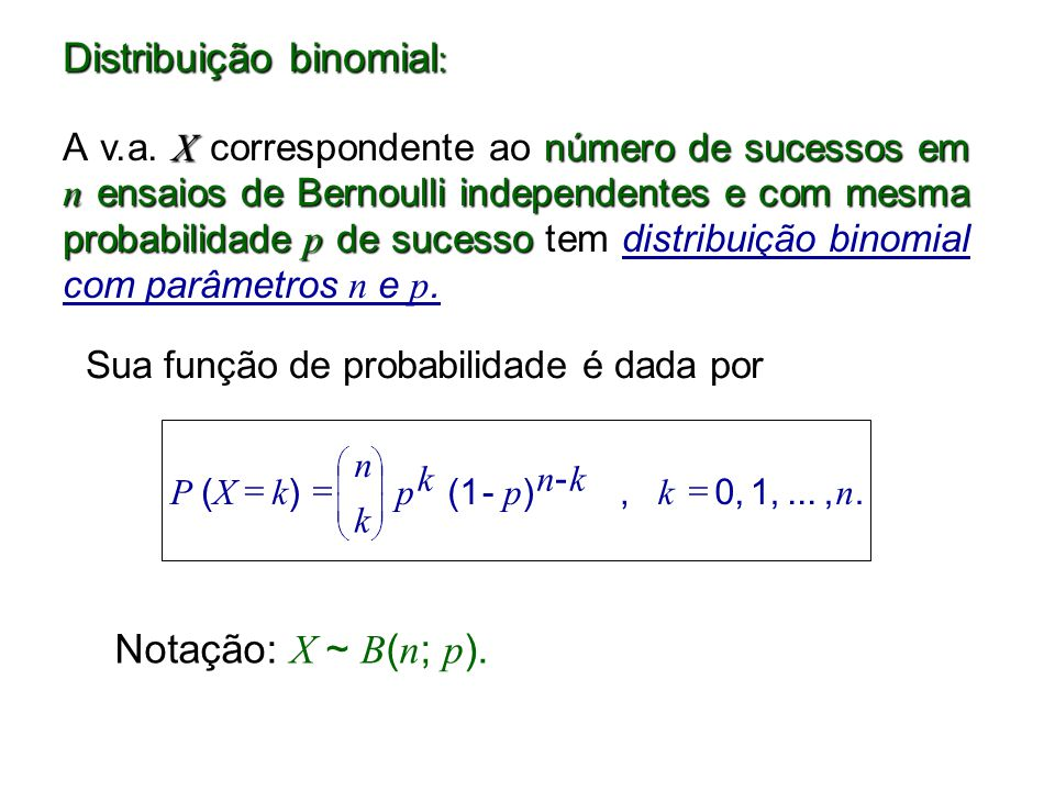 Distribuição binomial:
