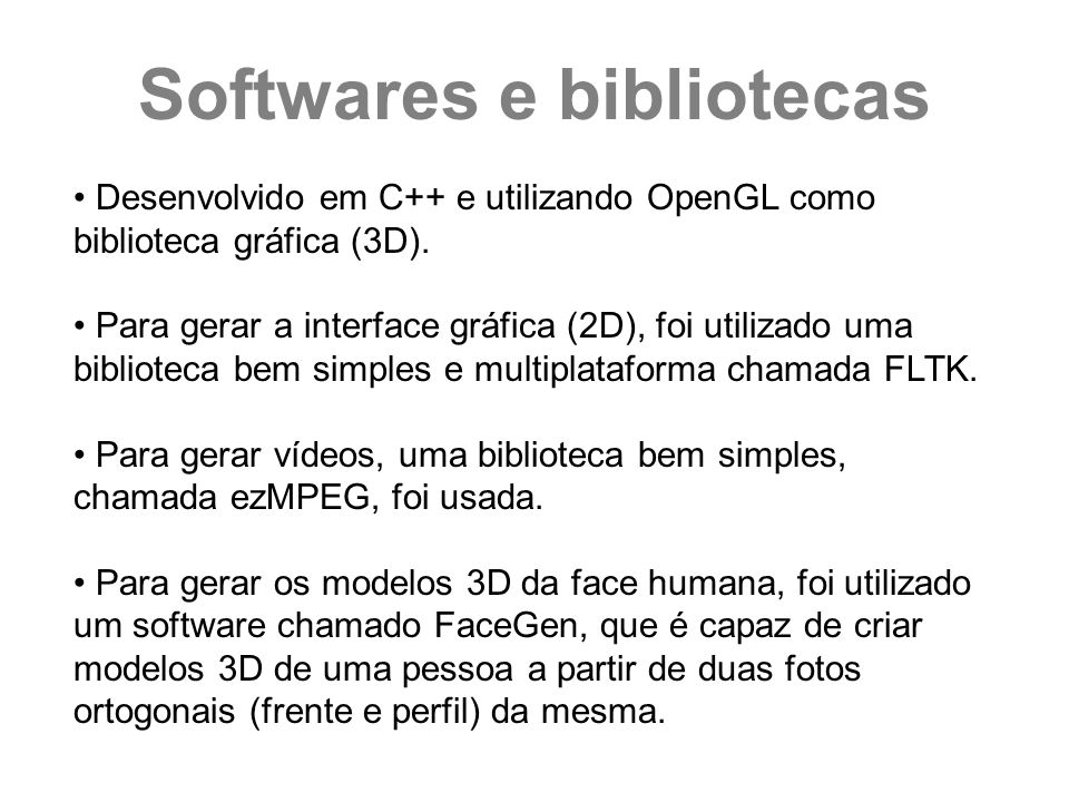 Softwares e bibliotecas