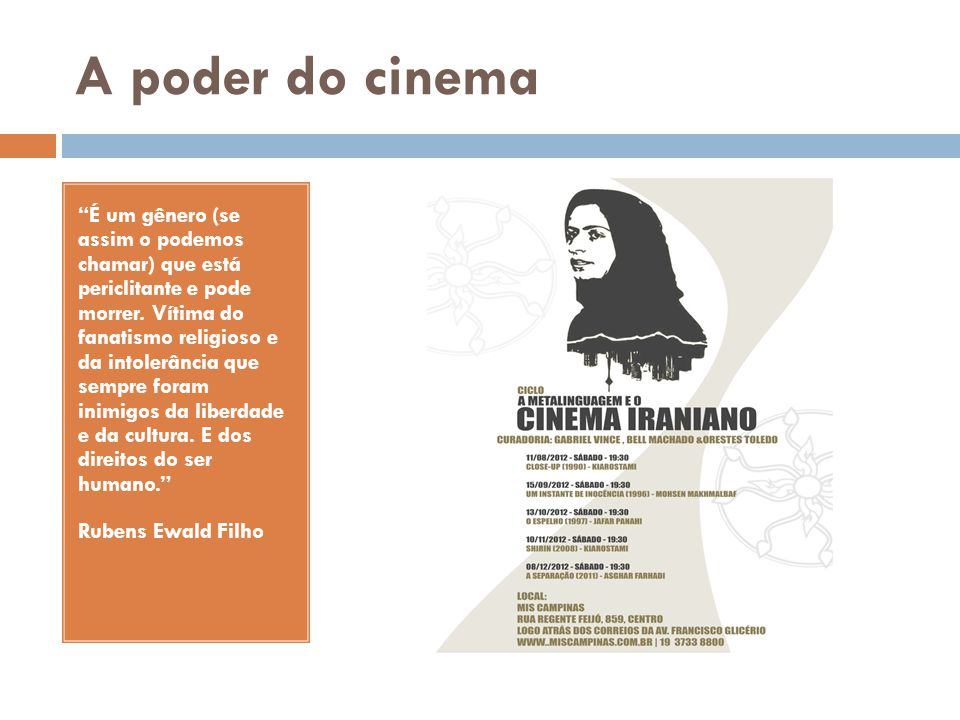 A poder do cinema