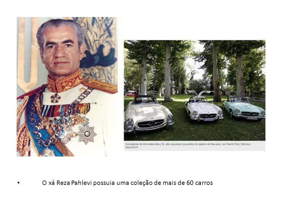 O xá Reza Pahlevi possuia uma coleção de mais de 60 carros