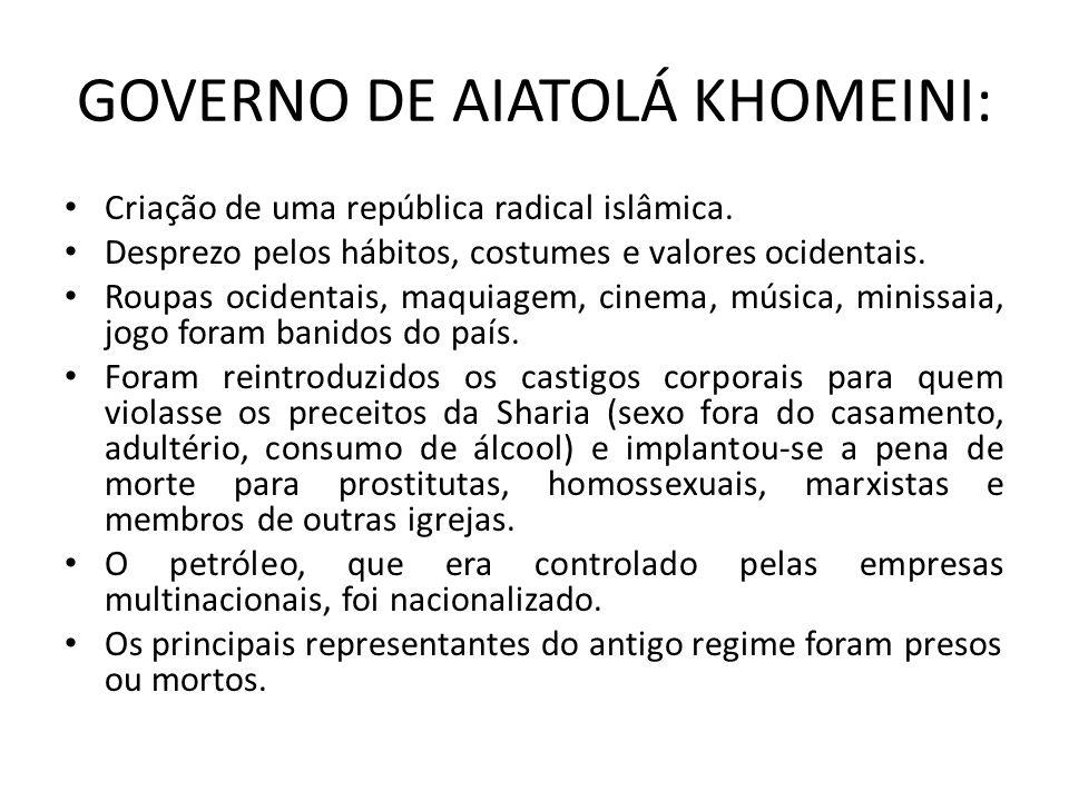 GOVERNO DE AIATOLÁ KHOMEINI: