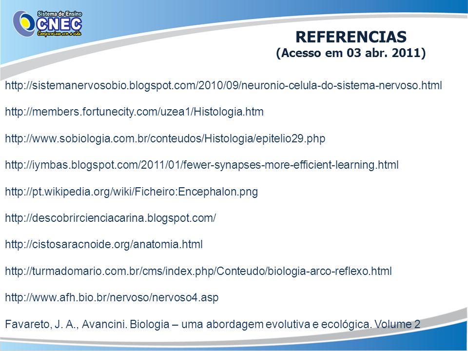 REFERENCIAS (Acesso em 03 abr. 2011)