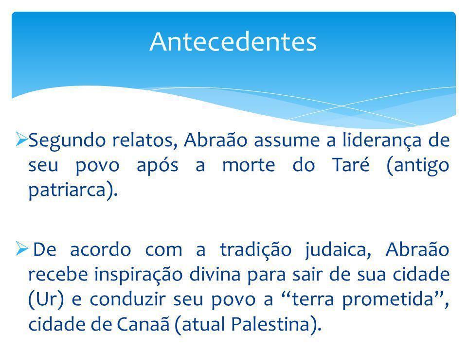 Antecedentes Segundo relatos, Abraão assume a liderança de seu povo após a morte do Taré (antigo patriarca).