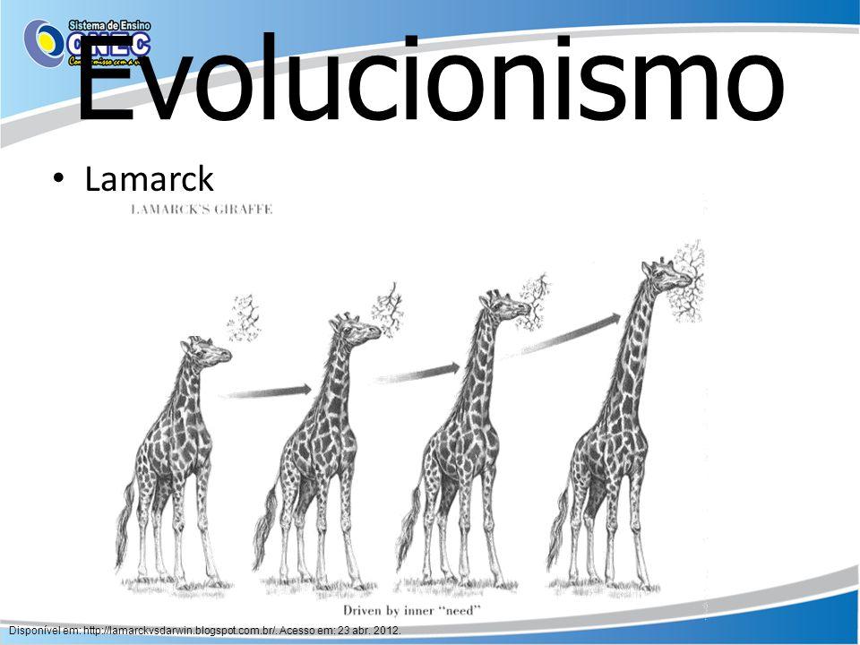 Evolucionismo Lamarck
