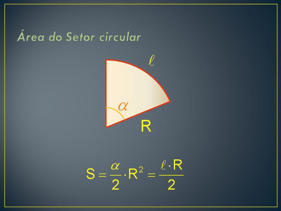 Área do Setor circular