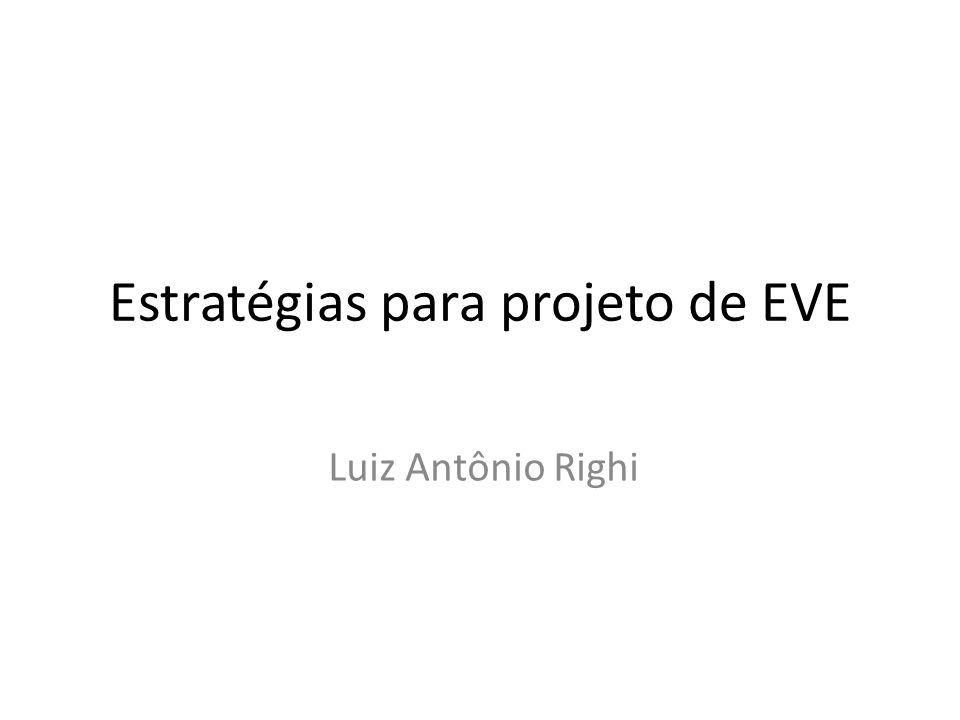 Estratégias para projeto de EVE