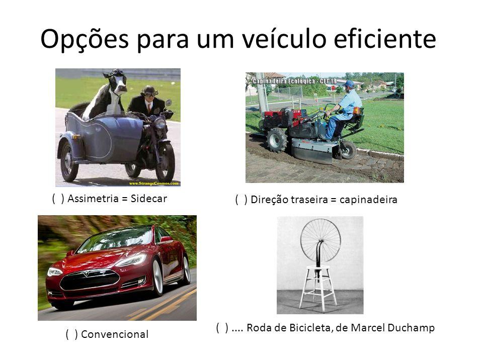 Opções para um veículo eficiente