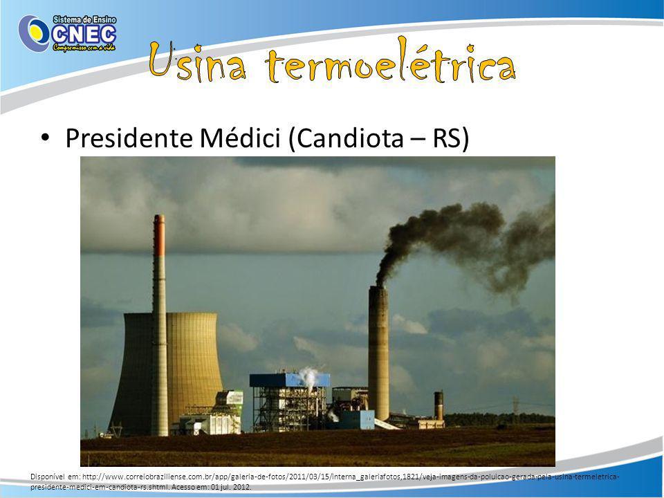 Usina termoelétrica Presidente Médici (Candiota – RS)