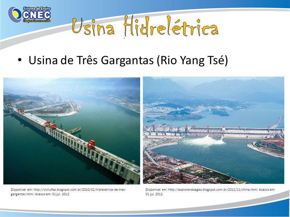Usina Hidrelétrica Usina de Três Gargantas (Rio Yang Tsé)