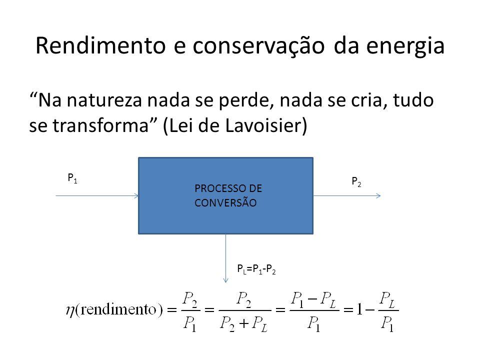 Rendimento e conservação da energia