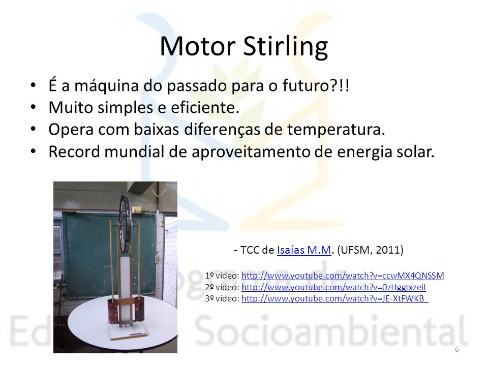 Motor Stirling É a máquina do passado para o futuro !!