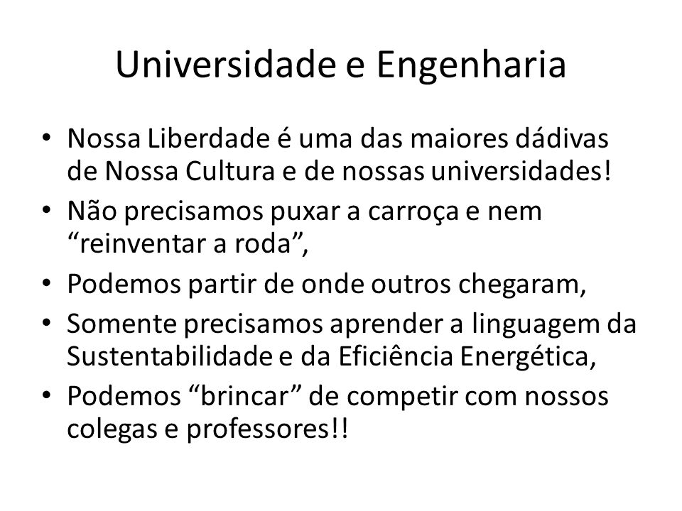 Universidade e Engenharia