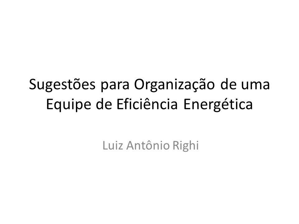 Sugestões para Organização de uma Equipe de Eficiência Energética