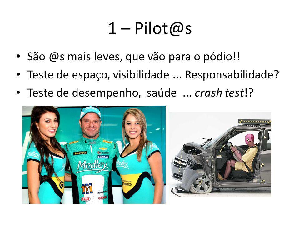 1 – Pilot@s São @s mais leves, que vão para o pódio!!