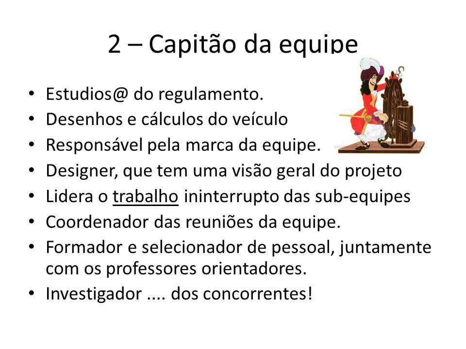 2 – Capitão da equipe Estudios@ do regulamento.