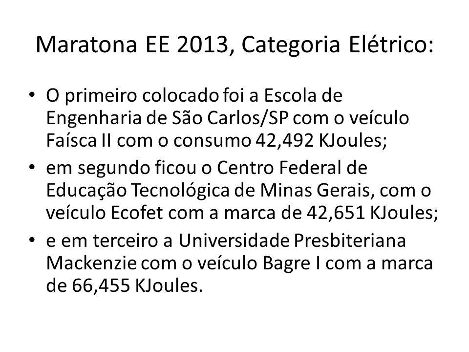 Maratona EE 2013, Categoria Elétrico: