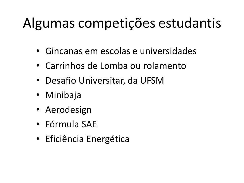 Algumas competições estudantis