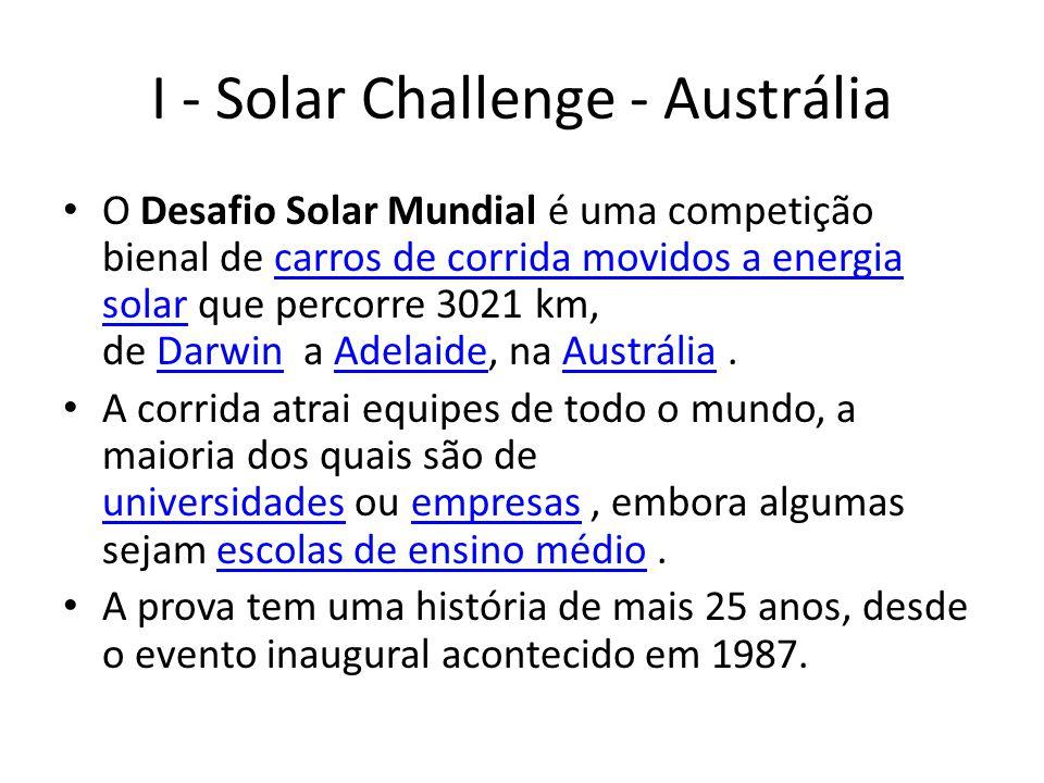 I - Solar Challenge - Austrália