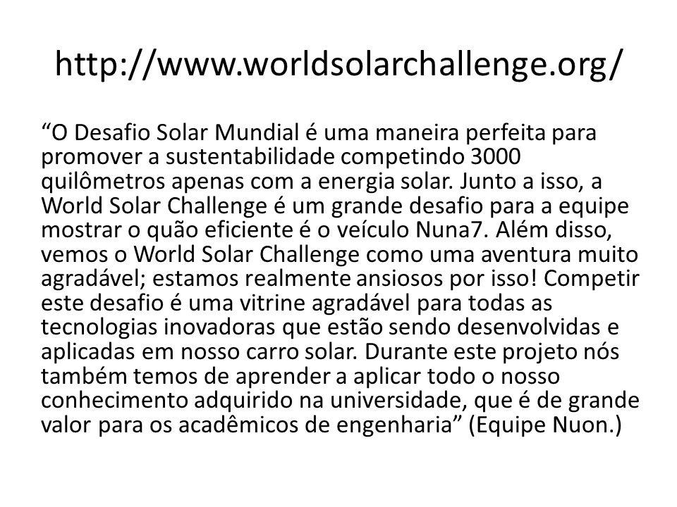 http://www.worldsolarchallenge.org/