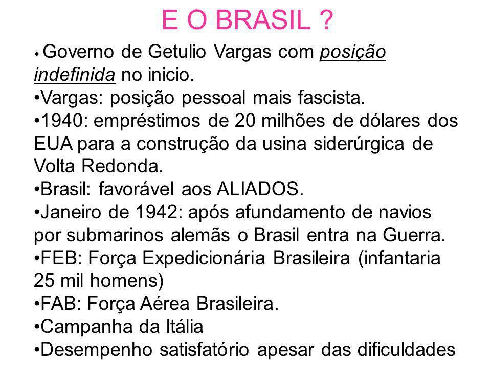 E O BRASIL Vargas: posição pessoal mais fascista.