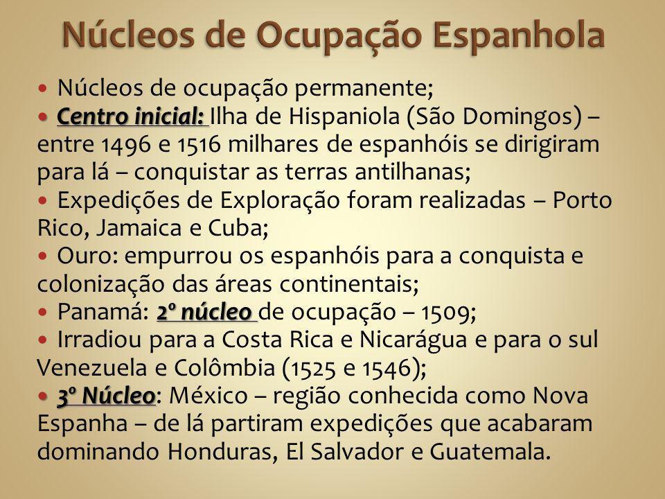 Núcleos de Ocupação Espanhola