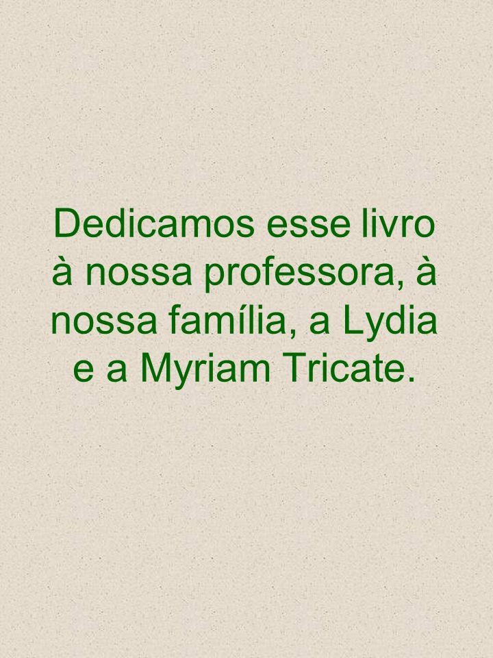 Dedicamos esse livro à nossa professora, à nossa família, a Lydia e a Myriam Tricate.