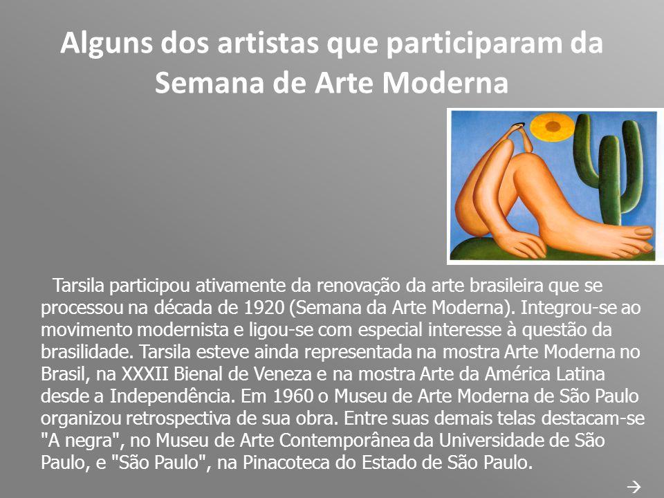 Alguns dos artistas que participaram da Semana de Arte Moderna