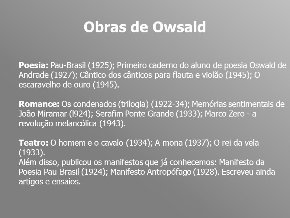 Obras de Owsald