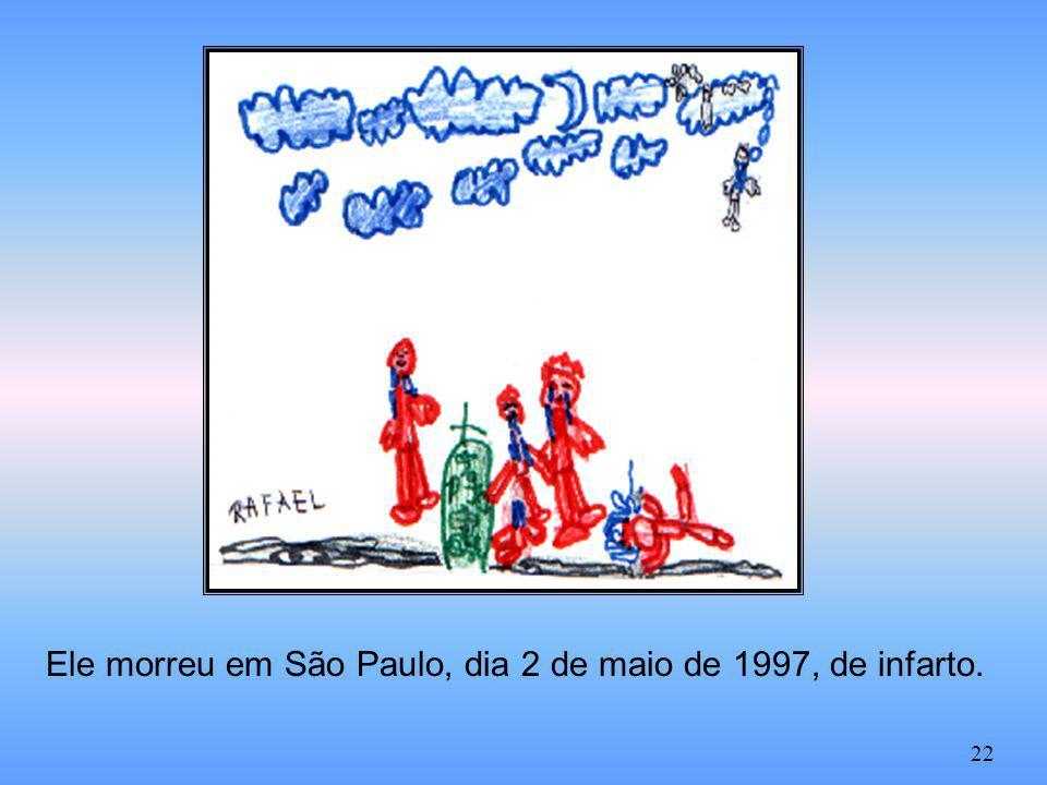 Ele morreu em São Paulo, dia 2 de maio de 1997, de infarto.