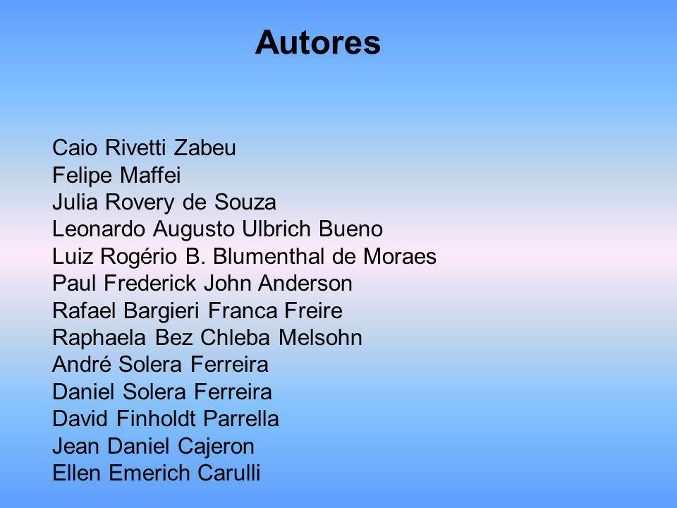 Autores Caio Rivetti Zabeu Felipe Maffei Julia Rovery de Souza